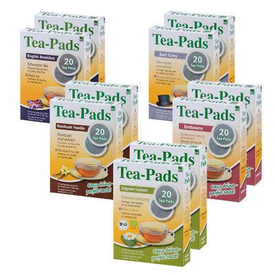 200 Teepads English Breakfast,Earl Grey,Ingwer Lemon,Vanille -Paket (für Senseo)