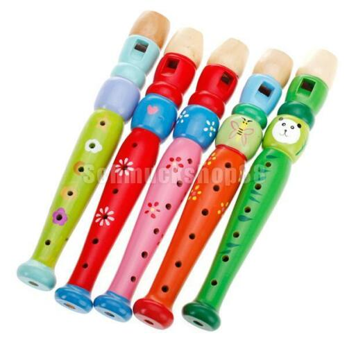Hölzerne Kinderflöte, Kinder Flöte, Blockflöte Kinder Musik Spielzeug