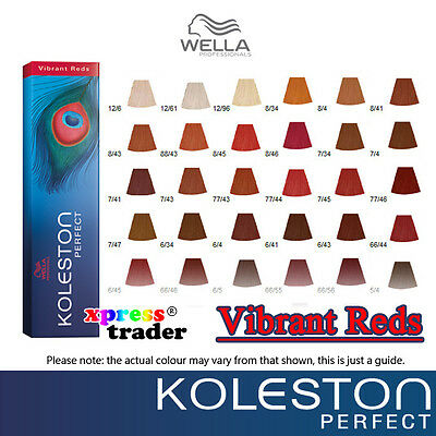 Wella koleston perfect permanent hair color dye  vibrant reds series also rh ebay