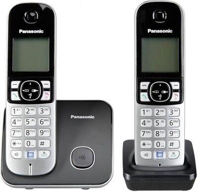 Panasonic Schnurlostelefon Haustelefon Festnetztelefon 2 Telefone KX-TG6812GB