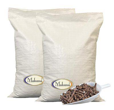 Makana Leinkuchen Leinsamen Leinöl Pellets Granulat Presskuchen 2 x 10 kg