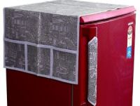 COMBO PACK OF DECORATIVE GREY FRIDGE TOP COVER & FRIDGE ...