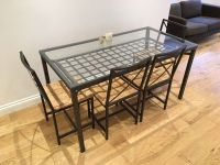 Ikea Glass Dining Table And 4 Chairs - Dining Tables