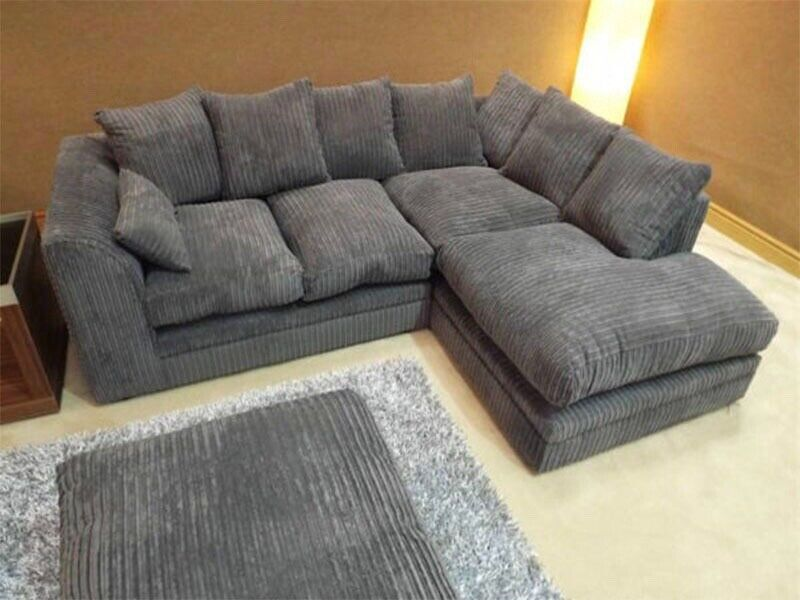 brand new corner sofa or 3 and 2 seater settee couch suite in jumbo cord fabric cheap sale price in clifton bristol gumtree