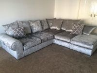 Silver Grey Sofas Leather Chesterfield Suite Made In Uk ...
