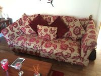 Ex ScS Windsor Cranberry Floral Fabric Patterned 3 Seater