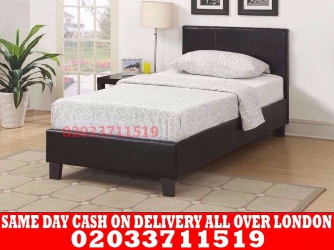 Brand New Single King Size And Double Leather Bed Available With Mattress