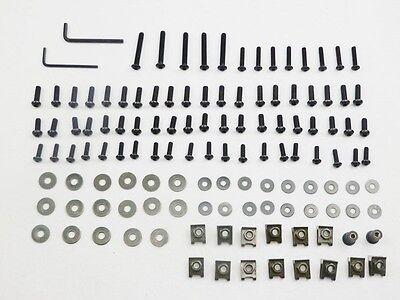 Black Motorcycle Steel Fairing Bolts Kit Body Fastener