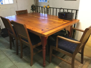 pine kitchen table glazed cabinets antique kijiji in ontario buy sell save harverster on its own or with 4antique maching chairs