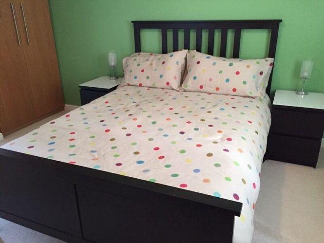 Double Bed Memory Foam Mattress Ikea Hemnes And Sultan Flokenes