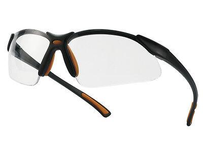 Schutzbrille - Arbeitsschutzbrille - Arbeitsbrille Orange/Schwarz - nach EN 166