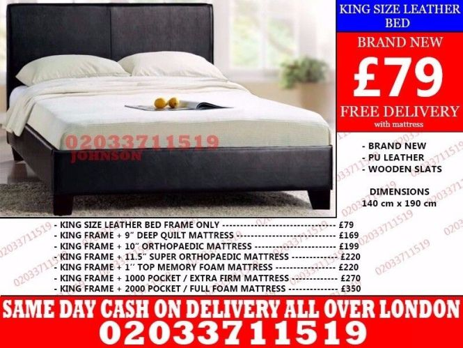 Double Bed And Mattress Single King Size Long Beach