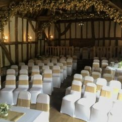 Used Spandex Chair Covers Fishing Mrs Macquarie's 104 White For Wedding In Benson