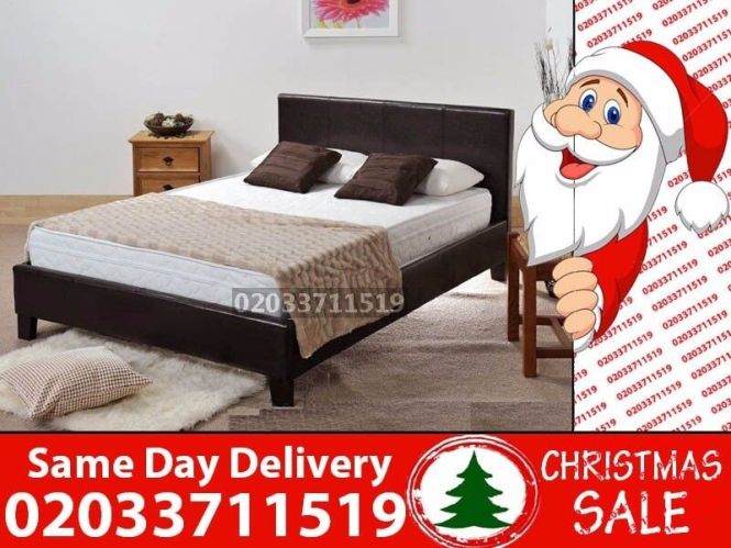 Brand New King Size Leather Bed Available With Mattress Sarasota