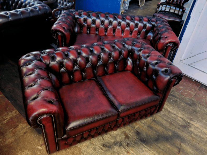 sofa warehouse leicestershire best slipcover for leather saxon oxblood chesterfield 2 3 seater sofas in barwell