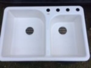 cast iron kitchen sinks cabinet hardware drawer slides sink kijiji in alberta buy sell save with canada s