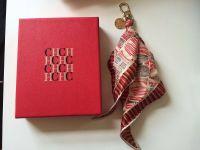 CH Carolina Herrera original bag charm scarf brown beige ...