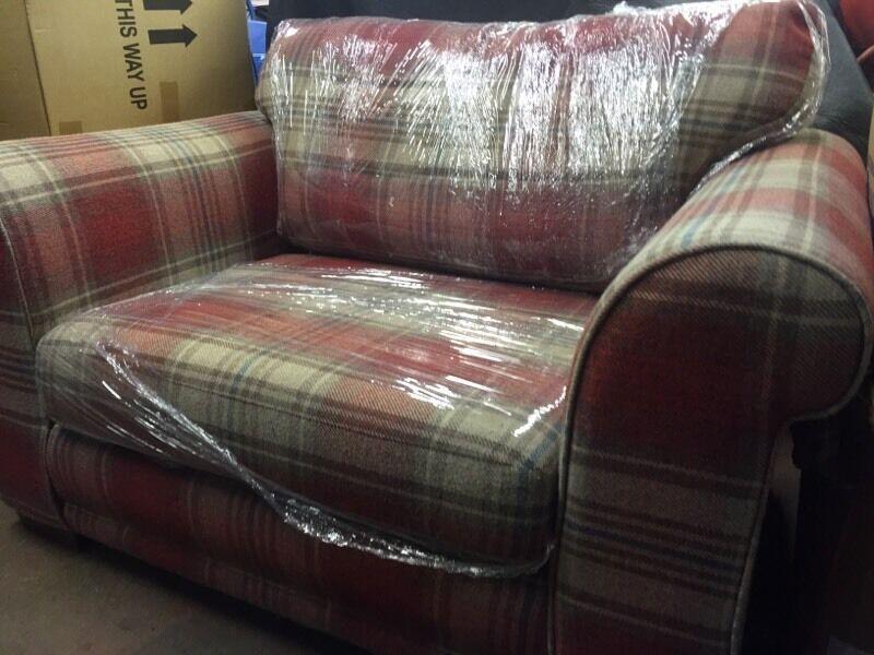 sofa lounge gumtree perth leather replacement singapore tartan ebay neutral red decor pinterest ...