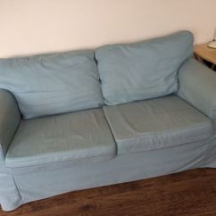 Grey Crushed Velvet Chair Covers Indoor Rocking Chairs Ikea Ektorp Two 2 Seater Sofa Duck Egg Blue Green | In Bournemouth, Dorset Gumtree