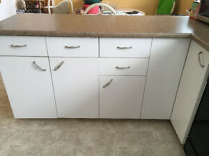 used kitchen countertops white island counter tops kijiji in winnipeg buy sell save cabinate c w top and lazy susan