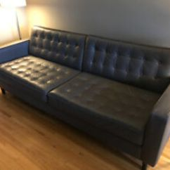 Crate And Barrel Lounge Sofa Pilling Discount Sofas Free Shipping Eq3 Buy Or Sell A Couch Futon In Calgary Kijiji Classifieds Reverie 86 Grey Leather