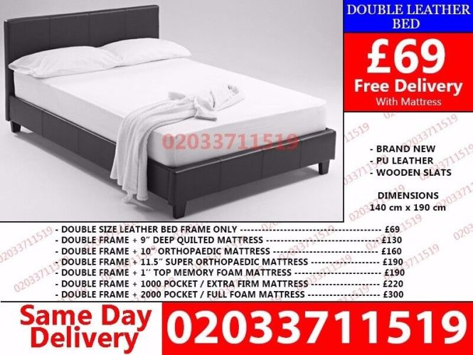 Brand New Single King Size And Double Leather Bed Available With Mattress Honolulu