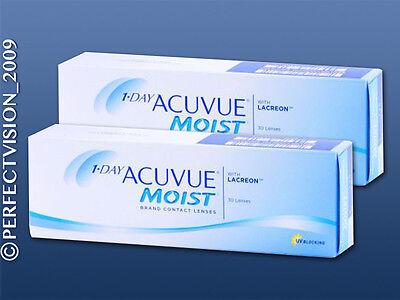 1 Day Acuvue Moist moderne Premium Tageslinsen 2x30 Stück - Neu&OVP