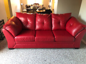 leather red sofa corner chaise end couch kijiji in ontario buy sell save with