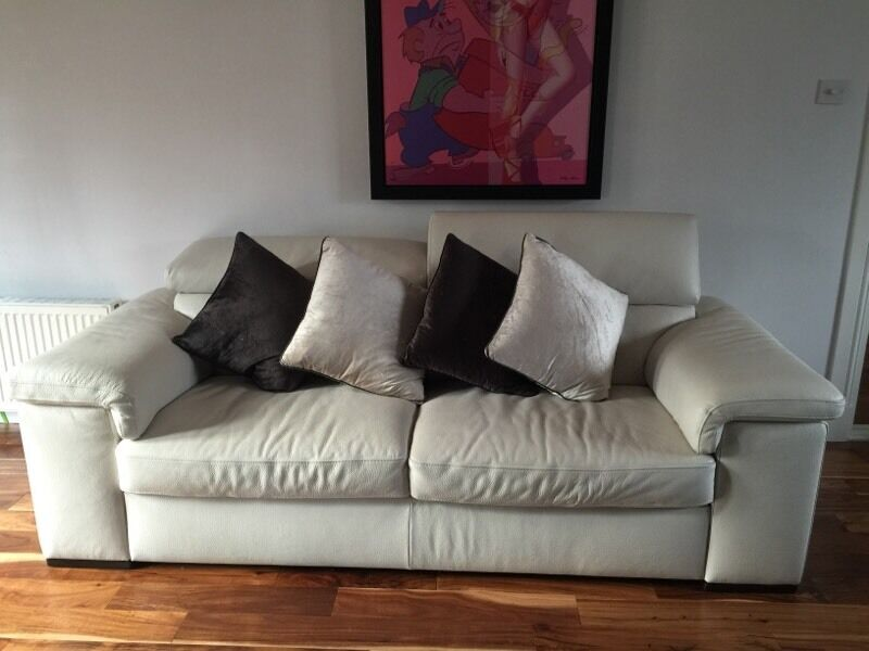 harveys 3 seater recliner sofa remove stain from reid liberata white leather | in pollok, glasgow ...