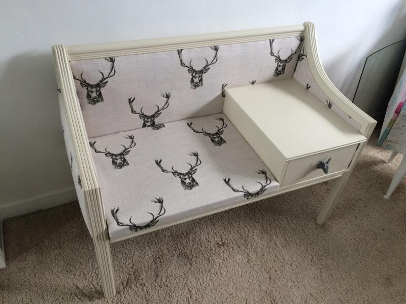 Shabby chic stag telephone seat Buy, sale and trade ads