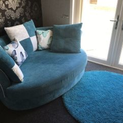 Teal Accent Chair Barcalounger Recliner Chairs Dfs Corner Style Sofa Cuddler Butterfly Mint - Blue | In Dunbar, East Lothian ...
