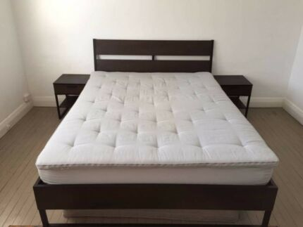 Ikea Queen Size Bed Frame Mattress Matching Side Tables