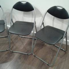 Bedroom Chair Gumtree Ferndown And Ottoman Set Cheap 3x Folding Metal Chairs In Dorset
