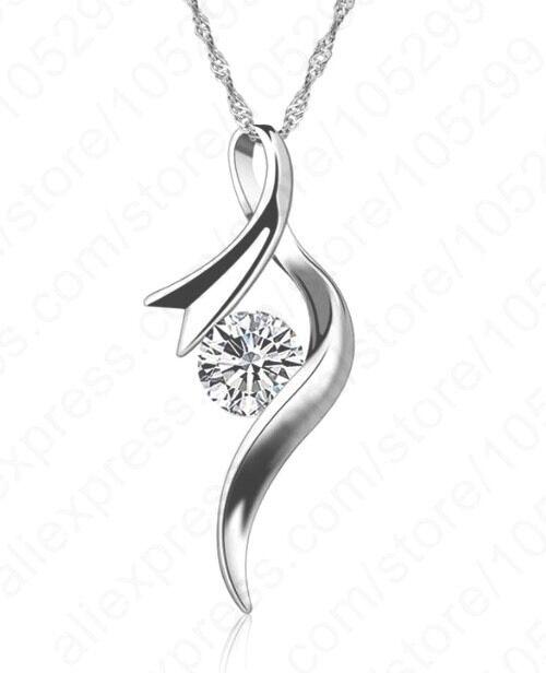 Silberkette mit Anhänger 925 Sterling Silber Schmuck Halskette Kette Damen P85