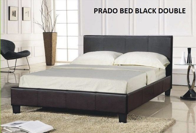 Double Prado Leather Bed Plus Mattress Fantastic Beds Easy Build Sy Mattresses