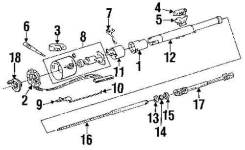 1991 Jeep wrangler steering column diagram
