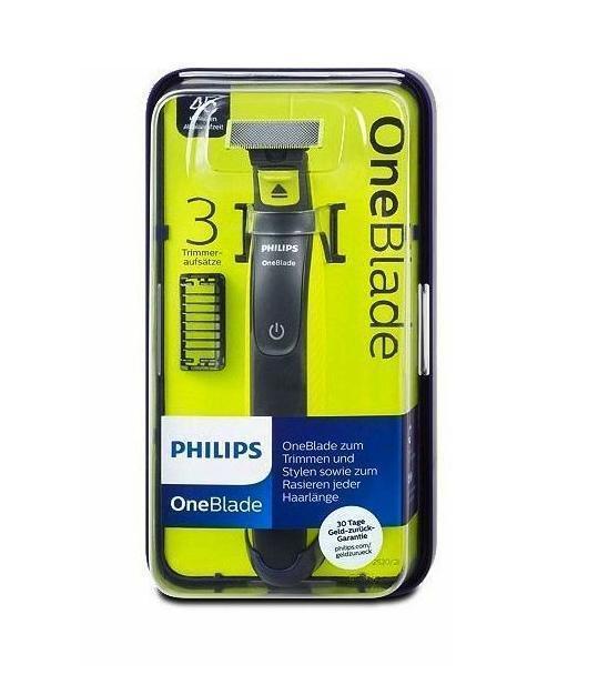 Philips one Blade QP 2520/20 trimmen stylen Rasierer mit 3 Aufsätzen