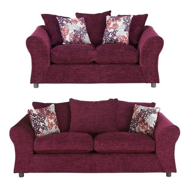 argos recliner sofa bobkona aria faux leather 2 piece and loveseat set clara plum | in blaenavon, torfaen gumtree