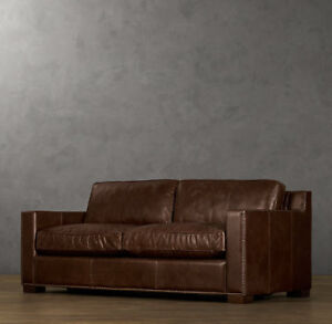 72 lancaster leather sofa corner small restoration hardware buy or sell a couch futon in toronto gta collins vintage cigar