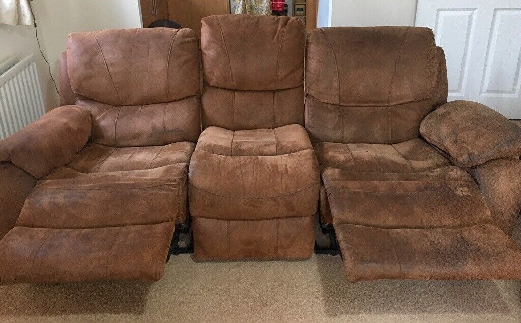 faux suede sofa cleaning instructions leather set from china 3 seater in newbury berkshire gumtree