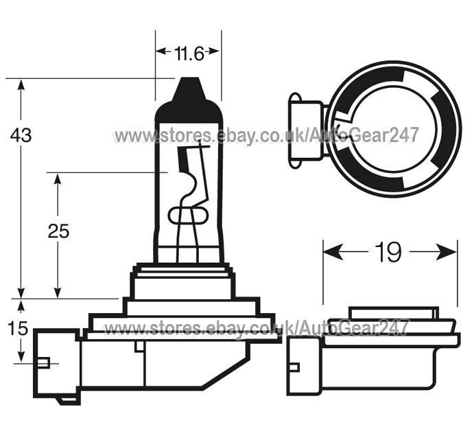 Ring Xenon Ultima 120% Brighter H11 RW1211 Car Head light