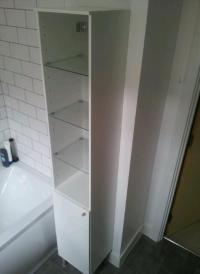 Ikea Fullen Tall Bathroom Cabinet (White and Glass) | in ...