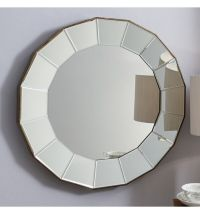 LARGE ROUND MIRROR IN MIRRORED FRAME | in Brighton, East ...