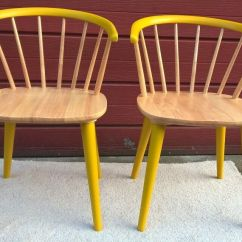 Funky Wooden Chairs Bentwood Bistro Pair Of Vgc Hand Painted In Hull East