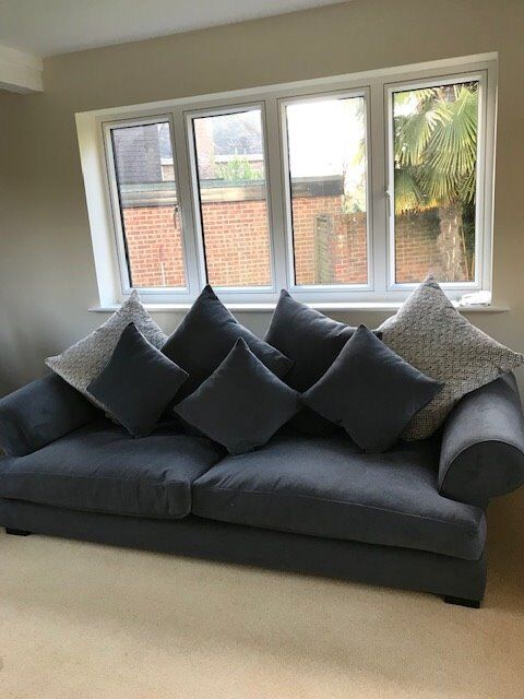 one and half seater sofa gray tweed sectional raft 4 2 a chairs as new 800 st albans hertfordshire