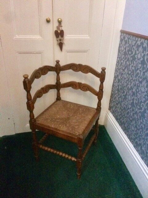 wooden corner chair affordable covers for hire vintage in bishop auckland county durham