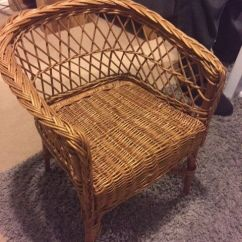 Childs Rattan Chair Swivel Mat Child S Wicker In Newton Le Willows Merseyside Gumtree
