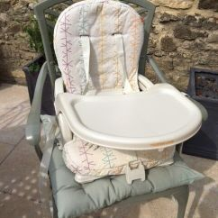 Mothercare Travel High Chair Booster Seat Personalized Christmas Covers Folding Tray In Oxford
