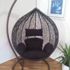 Hanging Chair Aldi Foldable Chairs For Sale Black Outdoor Egg Swing Dining Furniture Gumtree Pod Trapeze Wicker Rattan