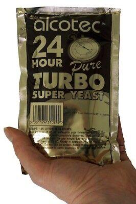 Turbohefe 24H - 20% Alkohol in 5 Tagen, 14% in 24 Stunden
